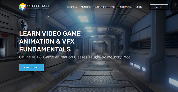 CG Spectrum VFX Course page