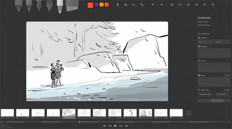 Storyboarder preview