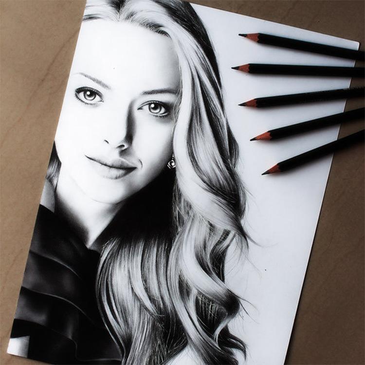 Charcoal portrait work