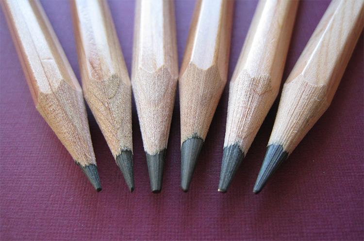 Some graphite art pencils