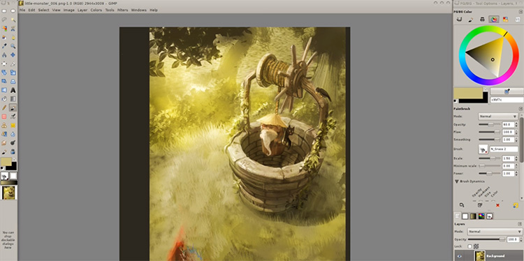 GIMP monster creature painting