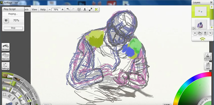 ArtRage software on Windows