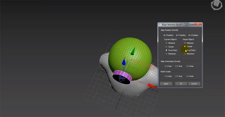 Scuba mask rendering