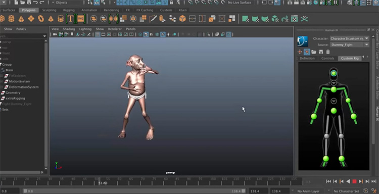 Simple rigging concept feature