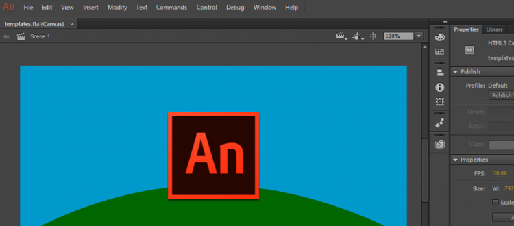Adobe Animate preview