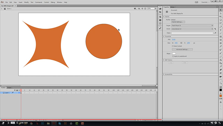 Adobe Animate absolute beginners course