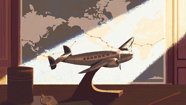 Model airplane illustration