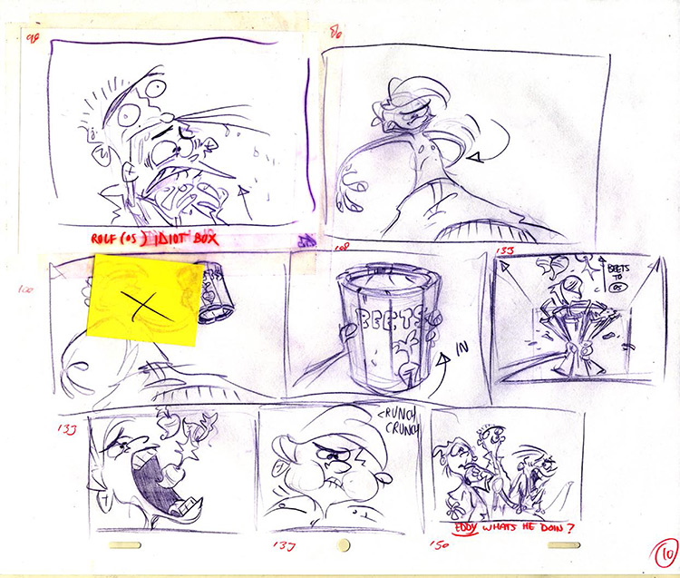 Rolf from Ed Edd n Eddy sketches