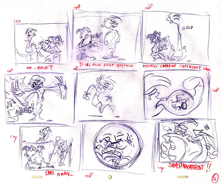 Rolf storyboards from Ed Edd n Eddy - page 2