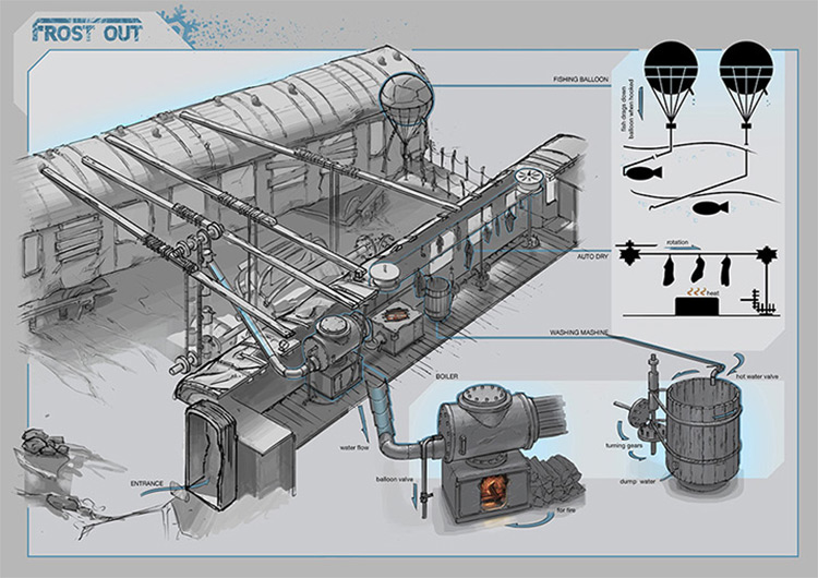 train crash concept art dariusk