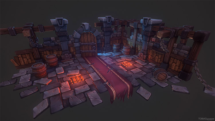 3d dungeon environment