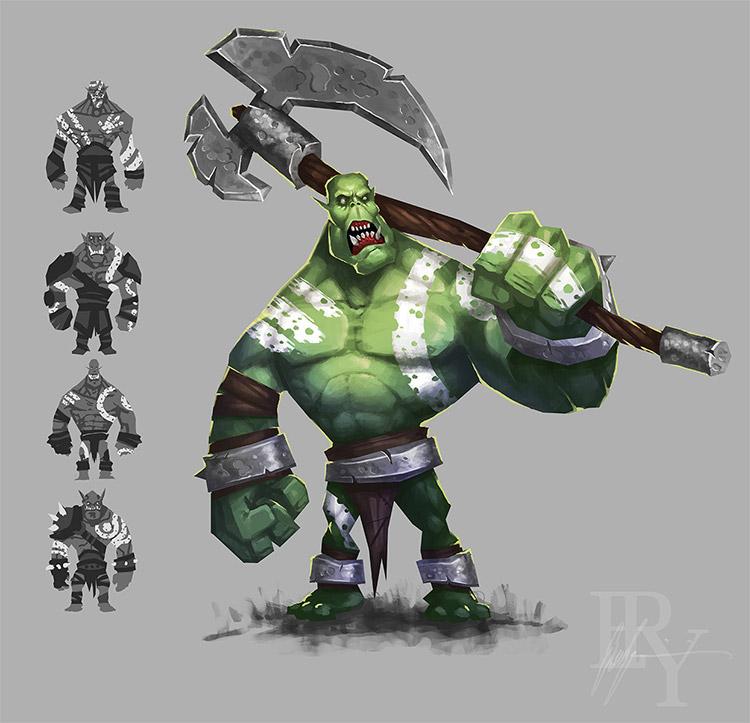 orc concept creature art