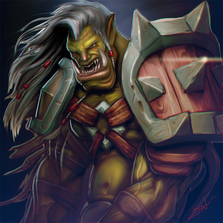 orc illustration for blizzard