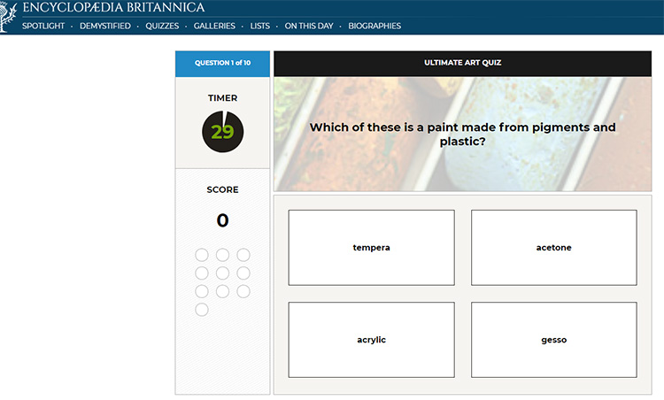 Art Quiz Britannica Encyclopedia