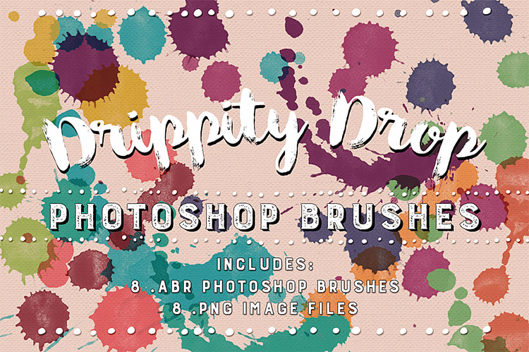 Drippity Drop Paint Photoshop brushes