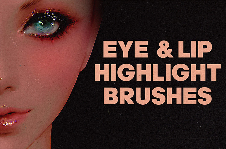 Eyes and lips brush set for PS CC