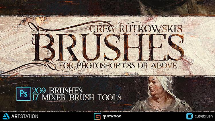 Greg Rutkowski pack of PS CC brushes