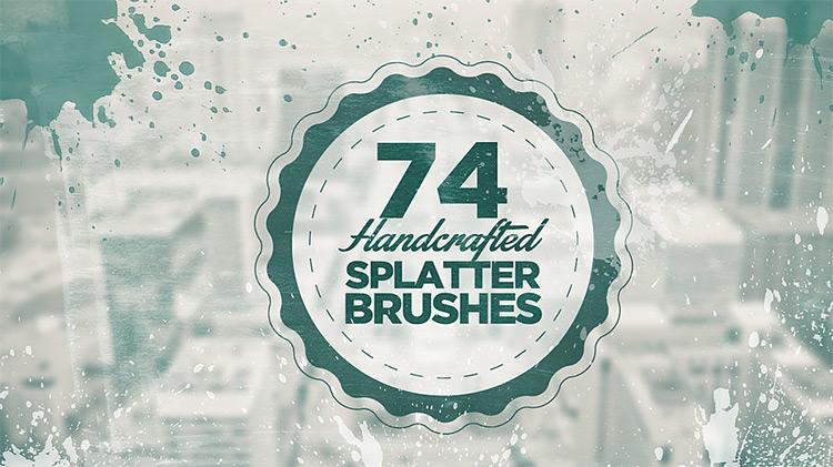 Splatter Brushes in Photoshop