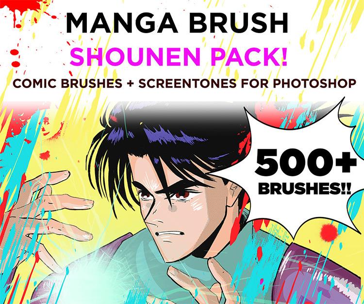Manga Shonen brushes pack