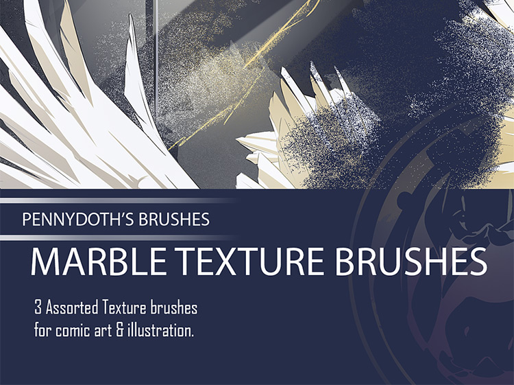 Marble texture brushes pack