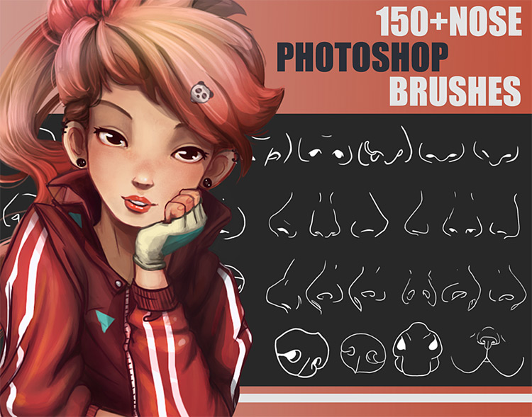 Nose Brushes pack for Photoshop