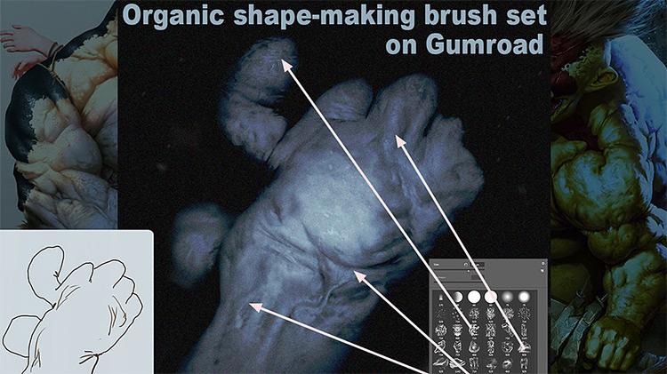Shape-making brush set