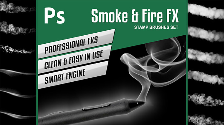 Smoke and Fire brushes for Photoshop