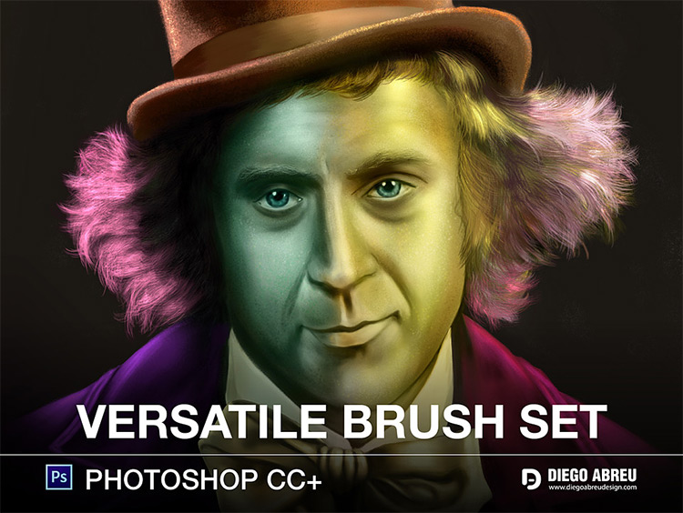 Willy Wonka Digital Painting - Versatile Brushes for PS CC