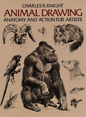 animal drawing action artists
