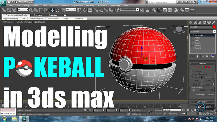 Model a pokeball