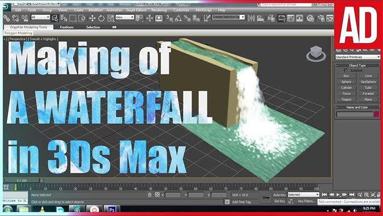 3dsmax waterfalls