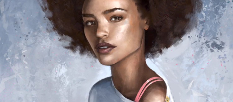 Paintable course review - sample portrait painting