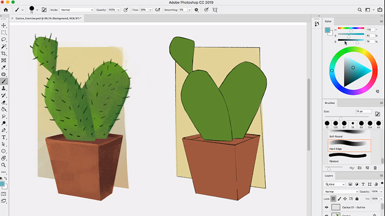 Paintings of cactus digital artwork
