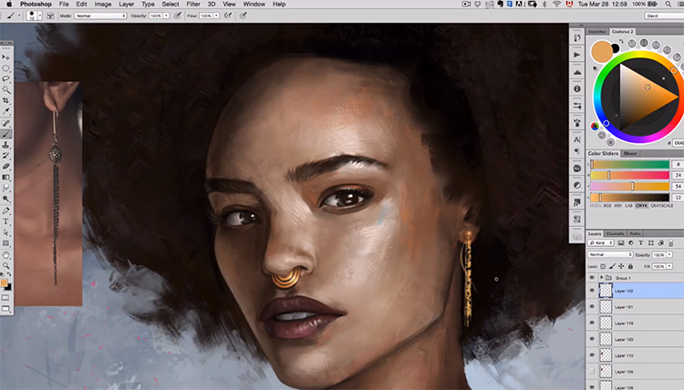 Lighting and color - female portrait course