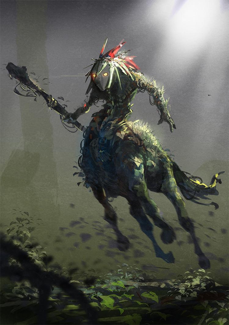 green forest centaur