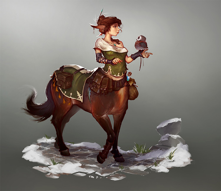 custom centaur female design