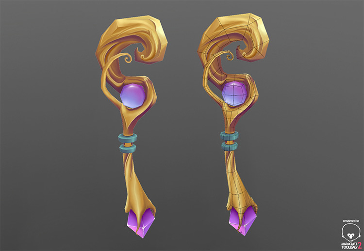 staff 3d weapons art