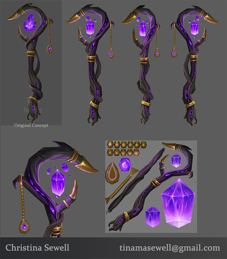 crystal staff weapons