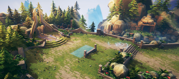 Environment concept artwork for video game design
