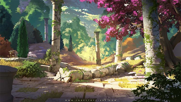 Ancient forest concept art area