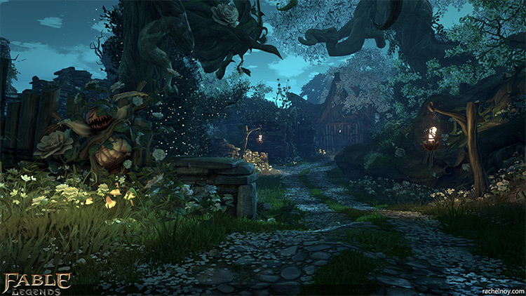 Legend environment dark concept art