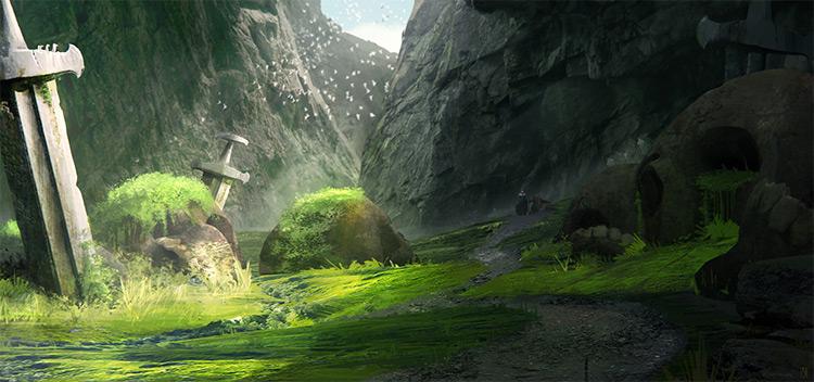 Digital landscape environment artwork