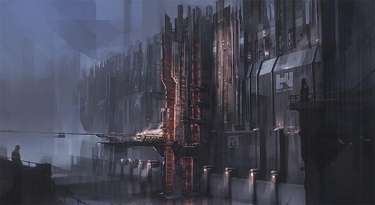 Dark machine focused city fantasy