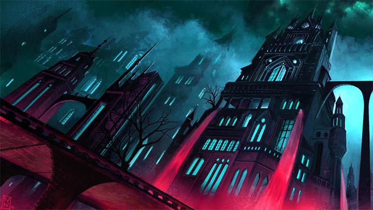 Gotham City environment concept art