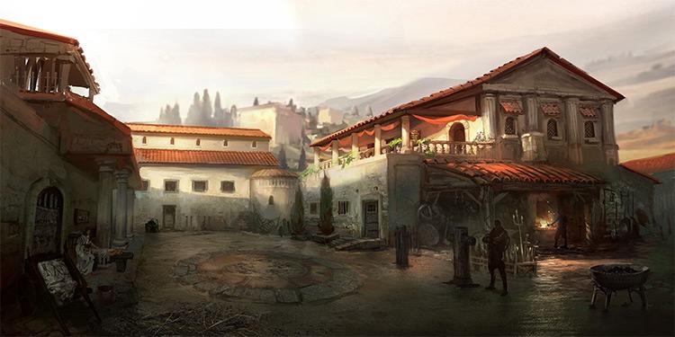 Gods of Rome environment concept