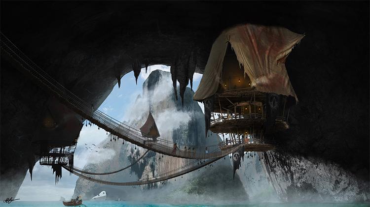 River Boad environment concept art