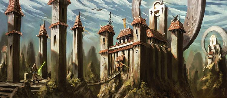Ardorian Temple concept art piece