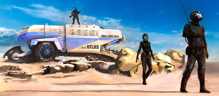 Desert terrain concept artwork