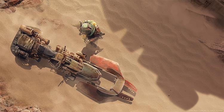 Sand desert speedbike concept