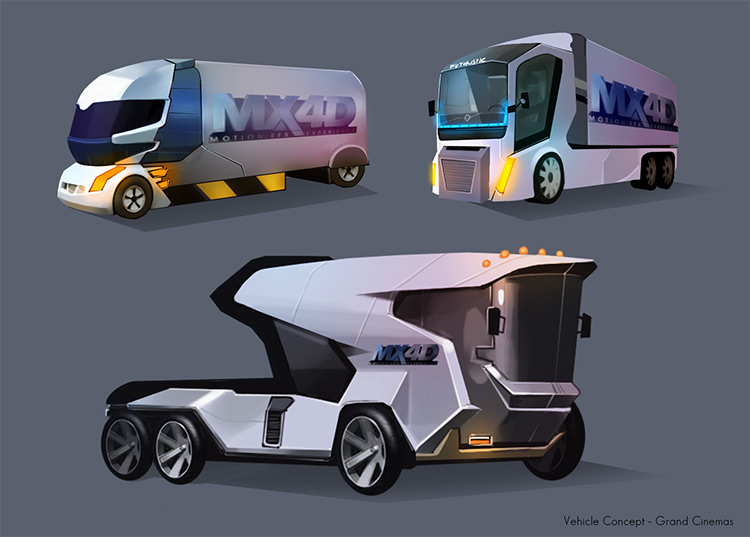 Truck, bus, van vehicle concept art